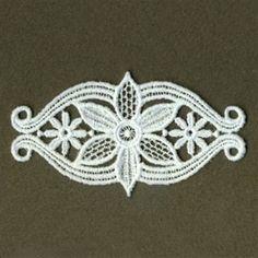 FSL Heirloom Floral Border embroidery design