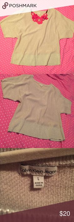 Calvin Klein shimmery top Gently used Calvin Klein Jeans Tops Blouses