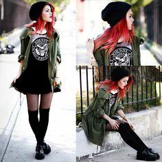 Dress- Choies, Jacket- She Inside, Creepers- TUK (by Lua P)
