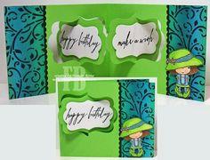 Frances Byrne using the Pop it Ups Katie Label Pivot Card die set by Karen Burniston for Elizabeth Craft Designs. - Make A Wish