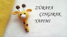 Amigurumi Giraffe Rattle Making - aigurumi - Lol dolls Amigurumi Giraffe, Amigurumi Doll, Amigurumi Patterns, Crochet Mouse, Crochet Baby, Crochet Motifs, Crochet Patterns, Monkey Pattern, Kit Bebe