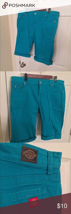 Dickies brand women's shorts Turquoise Dickies brand shorts, so cute! Dickies Shorts Jean Shorts