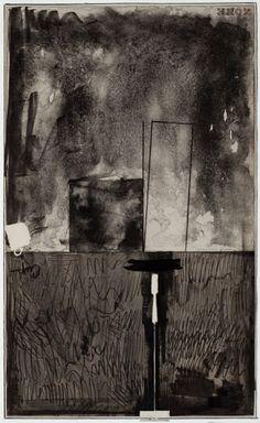 Jasper Johns (American, b. 1930), Zone Black State, 1972. Lithograph on Arjomari paper, 79.4 x 54 cm. Edition 12/16.