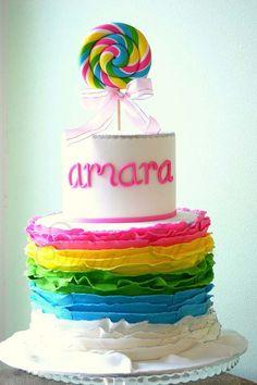 Swirly Lollipop Birthday Cake