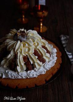 Chestnut Cream Dessert, part of Italian Christmas menu, from Not Quite Nigella
