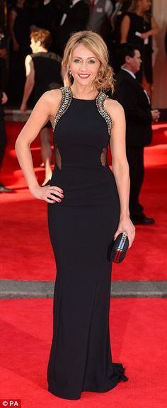Samia Ghadie and Michelle Collins work glamorous gowns at TV BAFTAs #dailymail