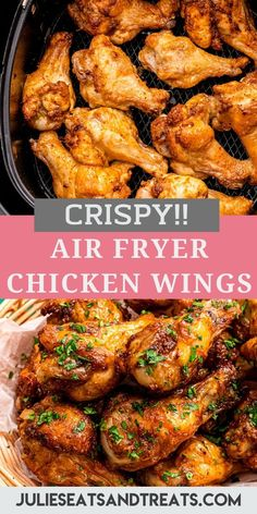 Craving some crispy chicken wings? These Air Fryer Chicken Wings are what you need! Drizzled with a little oil and seasoned they are finger licking good! #airfryer #recipe Low Carb Chicken Wings, Frozen Chicken Wings, Crispy Chicken Wings, Fresh Chicken, How To Cook Chicken, Air Fryer Recipes Keto, Air Frier Recipes, Cooking Recipes, Keto Recipes