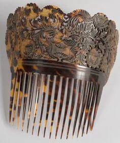 Vintage MOP /& Brass Parrot Haircomb  Hair Pick  Retro  Hair  Accessories  Boho  Decorative Combs  Hippie