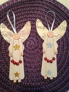 30 DIY Popsicle Stick Decor Ideas To Increase Your Interior Home – Home and Apartment Ideas stick Crafts 30 DIY Popsicle Stick Decor Ideas To Increase Your Interior Home Diy Christmas Ornaments, Christmas Angels, Christmas Art, Handmade Christmas, Christmas Gifts, Christmas Decorations, Burlap Christmas, Angel Ornaments, Christmas Crafts For Kids