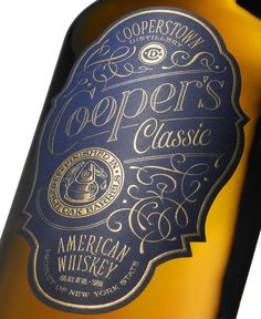 Feast Your Eyes on Cooperstown Distillery's Latest American Whiskey Typography Letters, Typography Design, Branding Design, Vintage Typography, Beverage Packaging, Bottle Packaging, Pavement Design, Label Design, Package Design
