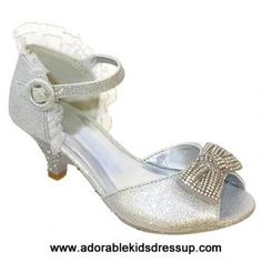 ae94c353b98e High Heels for Kids - silver Little Girl Heels