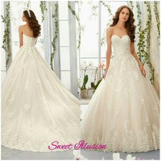 Mori Lee lace ball gown