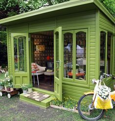 thelifestyleeditor:With space, for many of us, in our homes at a premium, the idea of an 'outdoor room' is certainly appealing. New book Shed Decor by author Sally Coulthard will have you dreaming of how you can revamp your garden shed or outbuilding to create your own beautiful and stylish space solution. Whether you need extra room to relax, work or play…Sally shows you how to design, decorate and equip it, to make both aliveable and useable space you can use all year round. Covering a