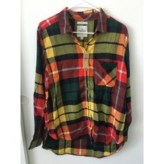 Flannel New With Tags Smoke free home Pet free home Any questions feel free to ask in comments American Eagle Outfitters Tops Button Down Shirts