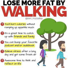 The bigger picture of losing body fat is getting yourself to move more and eat less…Although sometimes this can be taken to the extremes with hours of excessive cardio and crash dieting. Weight Loss Plans, Weight Loss Program, Weight Loss Tips, Lose Weight, Fitness Motivation, Weight Loss Motivation, Walking For Health, Walking Exercise, Belly Fat Burner