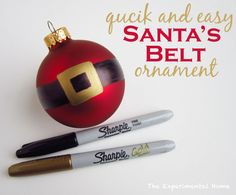 Make a quick and easy Santa's Belt Ornament with Sharpies.