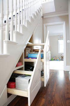 Organization Inspiration: Under Stairs Storage