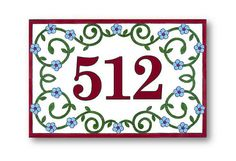 Outdoor House Number House Numbers Address by AyeBarDesigns
