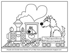 Valentine's Day Coloring Page - the Poodle and Doodle!