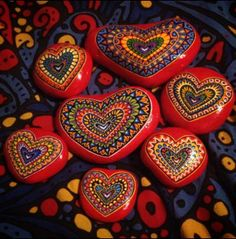 Pretty painted stones by Kyle Bowen