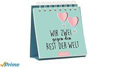 Wir zwei gegen den Rest der Welt - Werbung #Bücher #Lesen #Kalender #Liebeskalender #Liebe #Liebeserklärung #Geschenk #Geschenkidee #Valentinstag