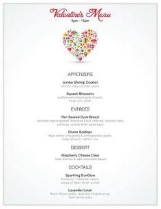 Valentine's Day Menu | SouthWest NY