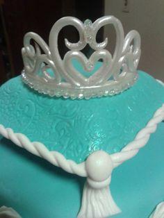 adornos para tortas coronas de princesas en porcelana fria