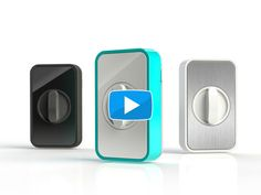 Lockitron   Lock your door from anywhere in the world Any smartphone can use Lockitron through its intuitive two-button app. With Lockitron you can instantly share access with your family and friends.
