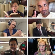 "Criminal minds -- Hotch is like, ""what's going on?!?"" And the rest are well... just themselves. Enough said."