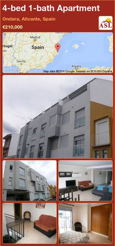 Apartment in Ondara, Alicante, Spain Apartments For Sale, Alicante Spain, Shower, Bathroom, Bed, Life, Rain Shower Heads, Washroom