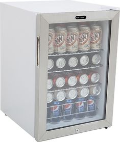 This Whynter refrigerator features 3 slide-out wire shelves to hold up to 90 cans, so you can stock up on plenty of your favorite beverages. An internal air-cooled system with fan-forced circulation helps maintain an ideal temperature. Beverage Refrigerator, Compact Refrigerator, Mini Fridge, Slide Out Shelves, Interior Led Lights, Upright Freezer, Design Café, Beverage Center, Basic Kitchen