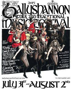 Ballyshannon Folk & Traditional Music Festival, Co Donegal, 31st July - 2nd August 2015, http://ballyshannonfolkfestival.com/