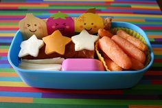 School lunch ideas -- I like the idea of using cookie cutters on cheese