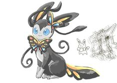 Fused sylveon X butterfree Pokemon Go, Pokemon Fusion Art, Pokemon Funny, Pokemon Fan Art, Cool Pokemon, Pokemon Original, Equipe Pokemon, Pokemon Eevee Evolutions, Pokemon Breeds