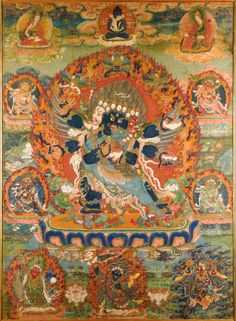 Vajrakila Thangka Tibet 17th Century