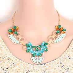 Everlas Gray Pearl Weave Simple Design Alloy Korean Necklaces   http://earrings.asumall.com/
