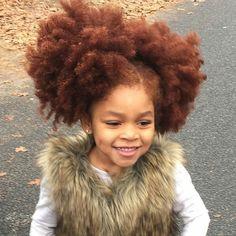 Redhead afro