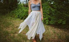 How to DIY the Ultimate Boho Skirt via Brit + Co.