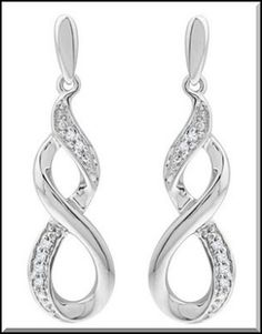 WINSterling Silver Infinity Drop Earrings Set in sterling silver, these earrings courtesy of Unwritten feature a dangling infinity charm. ...