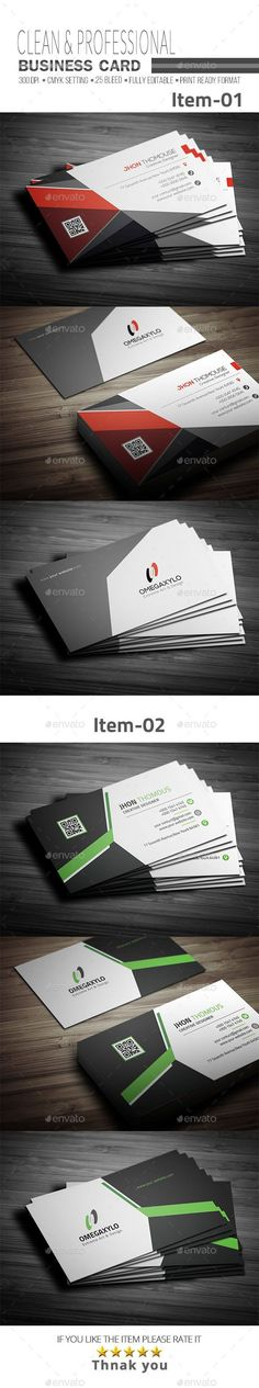 #Business #Card Bundle 2 In 1 - Corporate Business Cards