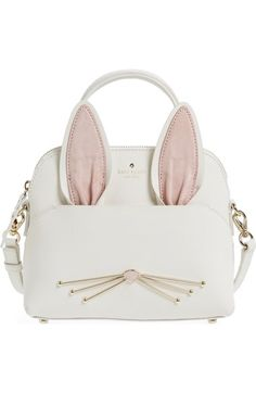 Absolutely adoring this Kate Spade crossbody bag in the shape of a cute rabbit that will instantly add a whimsical touch to any ensemble. Sac Kate Spade, Kate Spade Backpack, Kate Spade Crossbody Purse, Backpack Purse, Leather Crossbody Bag, Crossbody Tote, Luxury Handbags, Purses And Handbags, Designer Handbags