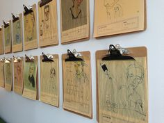 steal this idea: clipboards to display illustrations as wall art