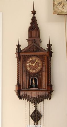 This magnificent Beha cuckoo clock with Angelus strike and monk automata was made C. 1870