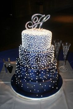Cake - pearl decorated