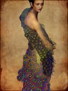 "Catrin Welz-Stein ""Peacock Dress"""