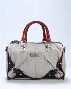 Nicole Lee Embossed Faux Leather Handbag