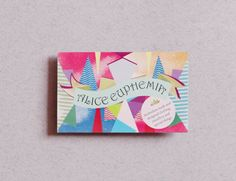Love the mix of hand made & collage for this business card by Luci Everett.