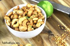 Zesty Chili Lime Cashews | taketwotapas.com