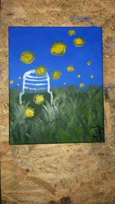 #art #easyart #painting #nature My Face Book, Simple Art, Make It Yourself, Night, Artwork, Nature, Painting, Work Of Art, Naturaleza