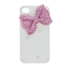 Pearl Bow Phone Cover - iPhone 4 Compatible